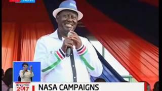 Raila forced to end his rally prematurely