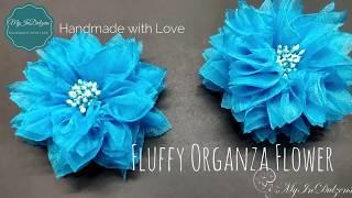 D.I.Y. Fluffy Organza Ribbon Flower | MyInDulzens