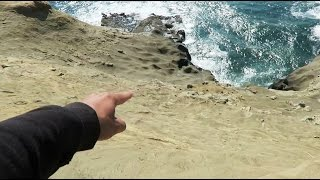 DROPPED HIS PHONE INTO THE OCEAN