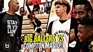 LaMelo Ball & Big Ballers WORST LOSS EVER To Compton Magic W/ James Harden Watching! Lose by 50!!