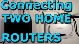 How To Connect Two Routers On One Home Network Using A Lan Cable  Stock Router Netgear/TP-Link