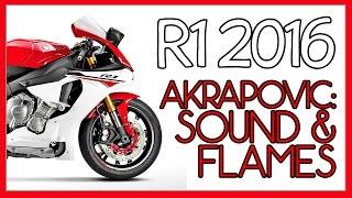 Yamaha R1 2016 Akrapovic and flames
