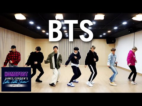 BTS Performs Boy with Luv In Quarantine HomeFest