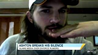 Ashton Kutcher Breaks Silence on Demi Moore Split Rumors in Web Video