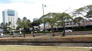 Judy on Segway in Hawaii