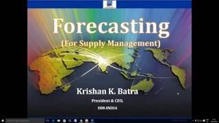 Webinar on Forecasting