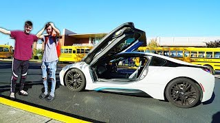 Taking My BROTHER To School In His DREAM CAR!