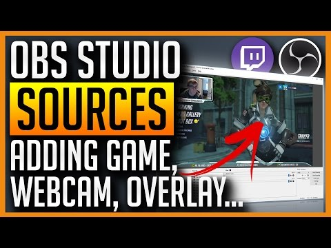 OBS Studio How to Add Game Webcam Overlay Text Sources