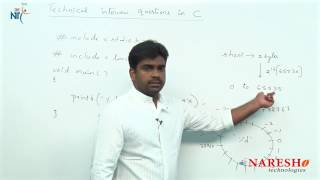 Data Types | C Technical Interview Questions and Answers | Mr. Srinivas