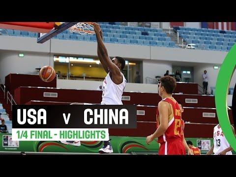 watch USA v China - Quarter Final Highlights - 2014 FIBA U17 World Championship