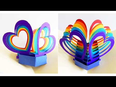 Xxx Mp4 Pop Up Card Twin Hearts Learn How To Make A Popup Heart Greeting Card EzyCraft 3gp Sex