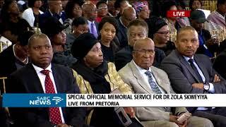 Brigitte Mabandla pays tribute to Dr Zola Skweyiya