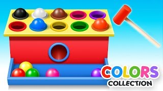 Learn Colors with Wooden Ball Hammer Educational Toys - Colors Video Collection for Children