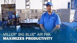 Maximize productivity with a Miller Big Blue Air Pak Welder/Generator Solution