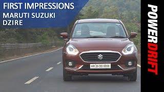 Maruti Suzuki Dzire : First Drive : PowerDrift