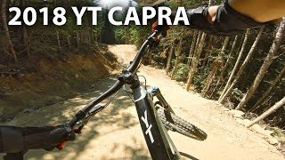 GETTING ROWDY Demo Riding a 2018 YT Capra CF - Whistler Bike Park | Jordan Boostmaster