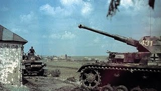 WW2 in color HD    Nazi German Panzer & Tiger Tanks in action    Rare color film