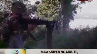 BT: Mga sniper ng Maute, nagpapahirap sa opensiba ng militar