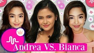 Andrea Brillantes VS Bianca Umali Musical.ly | Musically Battle 2017