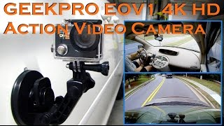 GEEKPRO EOV1 4K HD 12MP Action Video Camera RF Remote