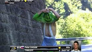 Peter Sagan Takes a Leak on His Competitors!