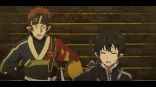 Sword Art Online 2 - Kirito Pulls Sinon's Tail - English Dub