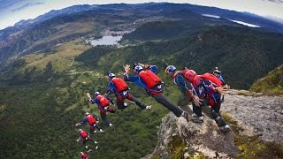 74 Seconds of Stomach Dropping Freefall | BASE Jumping Compilation