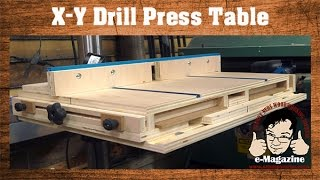AWESOME homemade drill press table with an X-Y Sliding top and more!
