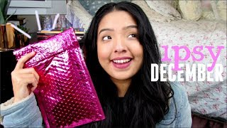 (A VERY SICK AND BLABBY) IPSY UNBOXING TRY-ON STYLE | DECEMBER 2017