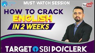 SBI CLERK   How To Crack English in 2 Weeks  Target Sbi Clerk Pre   Saurabh sir