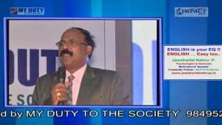 English is your EQ by Jawaharlal Nehru at Khammam IMPACT 2014