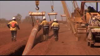 Fortescue River Gas Pipeline construction