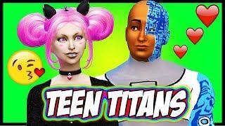 TEEN TITANS HAVE A BABY?? ♥ Cyborg and Jinx ♥ Sims 4 Random Genetics Challenge