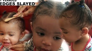 SLAYING My ONE Year Old's EDGES!😁