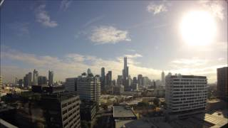 Time lapse Sunrise to Sunset in Melbourne