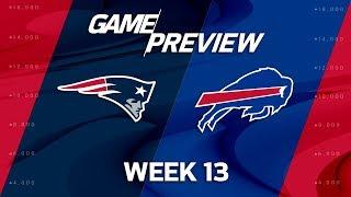 New England Patriots vs. Buffalo Bills | NFL Week 13 Preview | Film Review