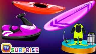 Surprise Eggs Nursery Rhymes Toys | Three Little Kittens | Learn Colours & Water Sports | ChuChu TV