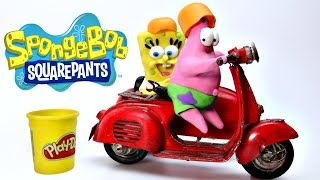 Spongebob & Patrick Play Doh Stop Motion Animación de Playdough Spongebob Squarepants