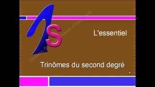 Maths 1ereS - Trinômes du Second Degré - Cours Mathématiques Première S racines polynomes