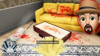 CLEANING UP A MURDER SCENE!! | House Flipper #7