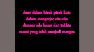 KL Gangster -  Takhta (lirik) HQ
