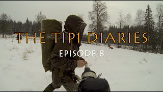 The Tipi Diaries Ep08 -  Hot Tent Winter Camping & Bushcraft in Sweden - Tentipi safir 7