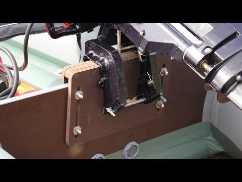 выставить лодочный мотор на транец