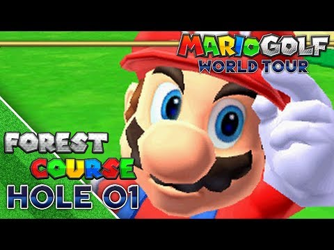 Mario Golf World Tour Forest Course Hole 01