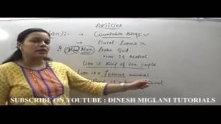 Articles  English Grammar Best Concept and Rules by Team, Dinesh Miglani Tutorials
