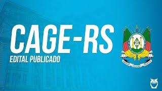 Concurso CAGE-RS - Análise de Edital | Ao vivo