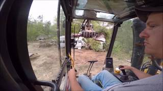 Smashing Cars With The Excavator