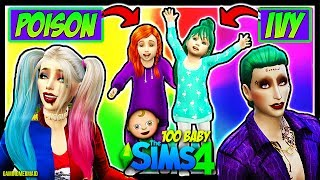 TWIN GIRLS MAKEOVER | The Sims 4: 100 Baby Challenge | HARLEY QUINN AND JOKER | Ep. 8