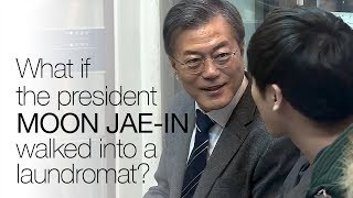 What if the president of South Korea came and folded your laundry with you?