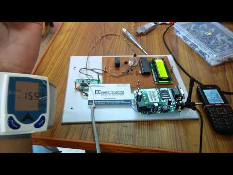 BLOOD PRESSURE, HEART RATE AND BODY TEMP MONITORING THROUGH SMS